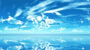 【MMDステージ配布】清涼感のある青空 QQ8【スカイドーム】