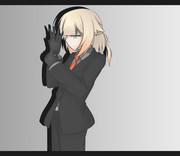 黒スーツONE