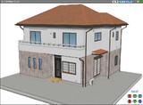 [書き割りのモブ住宅] 作りました。