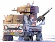 田舎のタイガー戦車