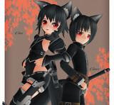 黒剣士「クロエとクロア・黒姉弟(妹かも?)」