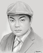 追悼画:前田健さん