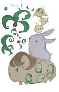 テーマ:カピパラとウサギとヒヨコ