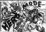 2B鉛筆でヒーローモード描いてみた!