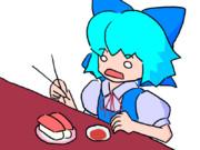 【GIF】回転寿司。