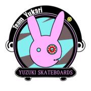 スケボーチーム『Team Yukari』を部隊章っぽく