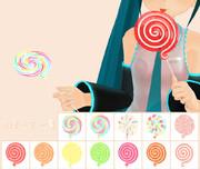 【MMD-OMF6】渦巻きキャンディ【モデル・アクセサリ配布】