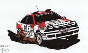 【切り絵】トヨタ CELICA GT-FOUR (ST165)
