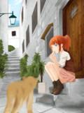 裏路地と猫