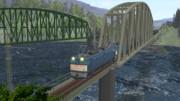 落合川の鉄橋を行くEF64重連貨物【MMD-OMF6 動画静画の部】