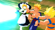 【東方MMD】「魔理沙!悟飯!もっとパワーをこめるんだ!!」【ドラゴンボールMMD】
