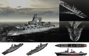 【MMD-OMF6】MMD用モブミサイル巡洋艦1980セット