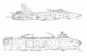 空間大型艦上爆撃機タイザン&特殊航空運用母艦バイカル「自作機&自作艦」