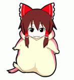 【GIFアニメ】着ぐるみ行進霊夢
