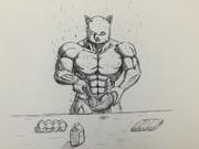 ケーキを作る太郎丸