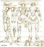 外骨格宇宙人の設定画