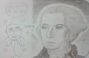15分でワシントンを描いてみた