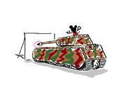 マウス(戦車)でマウス(クチ)を描くマウス(ネズミ)を