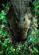 こっちを見ているティラノサウルス