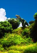 遠吠えをするティラノサウルス