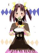 ケーキを食べる時間です。