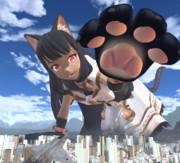 巨大黒猫カリおっさん