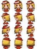 蓬莱人形ジャケットの少女 RPGツクールMV用歩行グラフィック