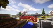 【Minecraft】はりまや橋っぽい赤橋