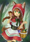 【トリスタ擬人化イラコン】狼娘の赤ずきん