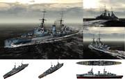 MMD用モブ軽巡洋艦1940セット