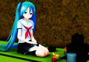 【習作Ⅱ】Latミクさんで「茶道部員」風味【日常絵の練習】