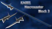 【斧槍】KA001 Necrosaster Block3/ ネクロザスター【MMD武器】
