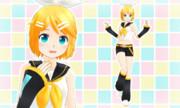 【MMDモデル配布】Pu式鏡音リン ver1.0