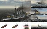 MMD用モブ前弩級戦艦1905セット