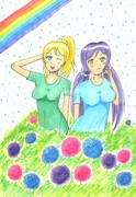 紫陽花とのぞえり