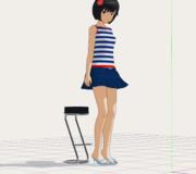 【MMD】女の子の撮影モーション(脚組み編)