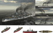 MMD用モブ装甲巡洋艦1905セット