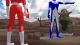 赤い通り魔と青き巨人