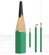 【MMDアクセサリ配布あり】ナイフで削った鉛筆