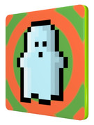 ドット幽霊の四角コースター