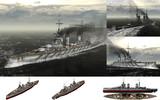 MMD用モブ巡洋戦艦1915セット(ユトランド沖海戦100周年記念・1)