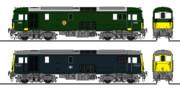 イギリス国鉄JA形、JB形(Class73)電気機関車