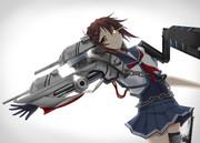 (実は主砲が邪魔で敵艦がよく見えてないんです)