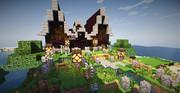 Minecraft島暮らし -お客さん用の家-