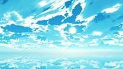 【MMDステージ配布】シアンブルーな空 UU9【スカイドーム】