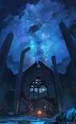 信仰跡地の夜