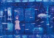 青いベランダ