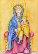 玉座の聖母子ー「大きな目の聖母」