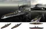 MMD用モブ巡洋戦艦1916セット(ユトランド沖海戦100周年記念・2)