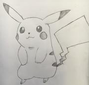 手書きでピカチュウを描いてみた